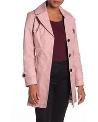 Via Spiga - Waist Tie Hooded Trench Coat (petite) - Lyst