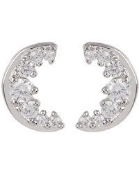 Nadri - Cz Accent Moon Stud Earrings - Lyst