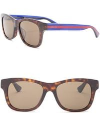 46bb1254438 Lyst - Gucci Men s Clubmaster Acetate Frame Sunglasses in Brown for Men