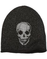 Skull Cashmere - Embroidered Skull Lurex Beanie - Lyst