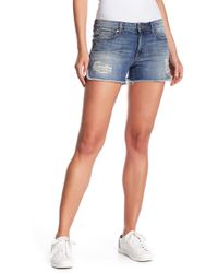 Level 99 - Chelsea Denim Cut Off Shorts - Lyst