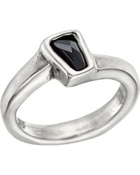 Uno De 50 - Silver Plated Bezel Set Swarovski Crystal Glamatic Ring - Lyst