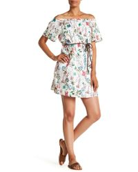 Sanctuary - Muscari Floral Printed Off-the-shoulder Dress - Lyst