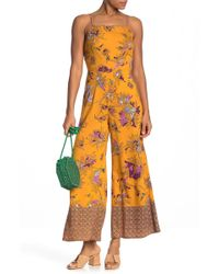 784a5b5fa976 Angie - Printed Wide Leg Jumpsuit - Lyst