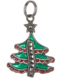 Judith Jack - Antique Sterling Silver Marcasite Tree Charm - Lyst