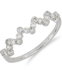 Bony Levy - 18k White Gold Bezel Set Diamond Zigzag Ring - Size 7 - 0.30 Ctw - Lyst