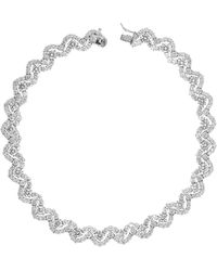 CZ by Kenneth Jay Lane - Double Row Round Cz Scalloped Necklace - Lyst