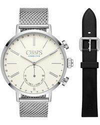 Chaps - Dunham Mesh Bracelet Hybrid Smart Watch, 44mm - Lyst