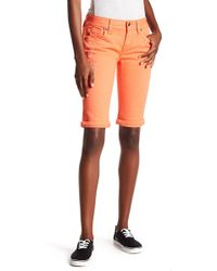 Miss Me - Mid Rise Bermuda Shorts - Lyst