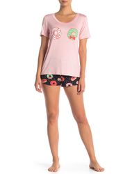 Curvy Couture - Donut Shorts Pajama 2-piece Set - Lyst