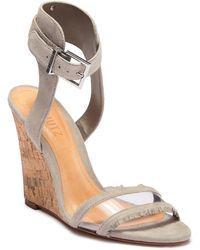 Schutz Mahoni Leather Woven Wedge Sandal NRynoFbl0t