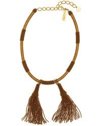 Oscar de la Renta - Wrapped & Beaded Tassel Necklace - Lyst