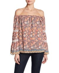 Jessica Simpson - Off-the-shoulder Boho Printed Blouse - Lyst