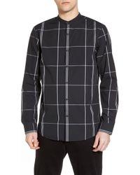 Calibrate - Trim Fit Windowpane Sport Shirt - Lyst