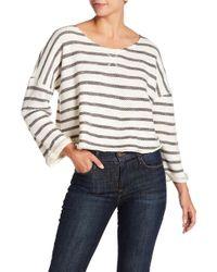 Lucky Brand - Stripe Back Tie Pullover - Lyst