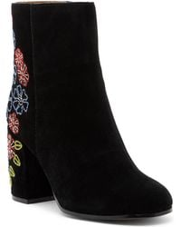 Bettye Muller - Shannon Embroidered Suede Mid Boot - Lyst