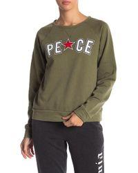 C&C California - Chenille Patch Sweatshirt - Lyst