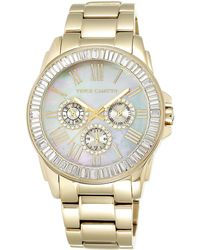 Vince Camuto - Women's Crystal Bezel Multifunction Bracelet Watch, 43mm - Lyst