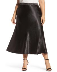 Vince Camuto - Hammered Satin Maxi Skirt (plus Size) - Lyst