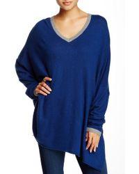 Portolano - Oversized V-neck Sweater - Lyst