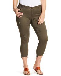 Jolt - Distressed Step Hem Skinny Jeans - Lyst