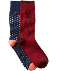 Original Penguin | Gabriel & Providence Crew Socks - Pack Of 2 | Lyst
