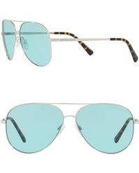 a912942ce5aa Michael Kors 56mm Square Sunglasses in Blue for Men - Lyst