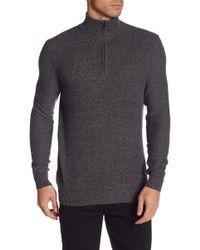 Calvin Klein - Mock Neck Quarter Zip Sweater - Lyst