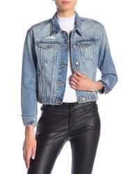 Joe's Jeans - Destroyed Crop Denim Jacket - Lyst