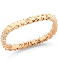 Alor - 18k Rose Gold Squared Ring - Size 6.5 - Lyst