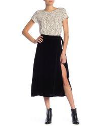 FRAME - Velvet D-ring Wrap Skirt - Lyst