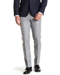 Brooks Brothers - Solid Flat Front Wool Blend Pants - Lyst