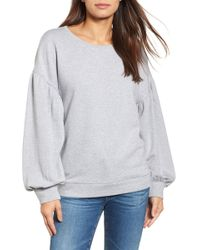 Halogen - Blouson Sleeve Sweatshirt (petite) - Lyst