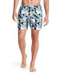 TRUNKS SURF AND SWIM CO - Floral Print Swim Trunks - Lyst