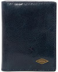 Fossil - Ryan Billfold Leather Card Case - Lyst