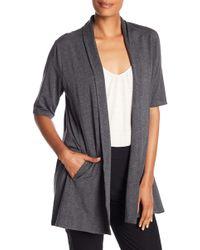 Eileen Fisher - Elbow Sleeve Draped Kimono - Lyst
