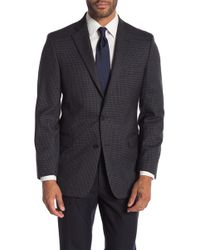 Brooks Brothers - Charcoal Check Plaid Two Button Notch Lapel Wool Classic Fit Sports Coat - Lyst