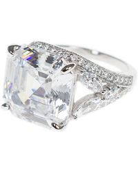 CZ by Kenneth Jay Lane - Radiant Cz Accent Ring - Lyst