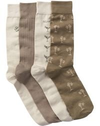 Tommy Bahama - Relax Palm Crew Socks - Pack Of 4 - Lyst