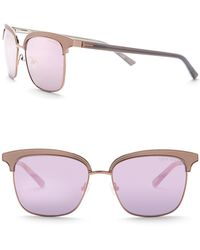 Ted Baker - 55mm Clubmaster Sunglasses - Lyst