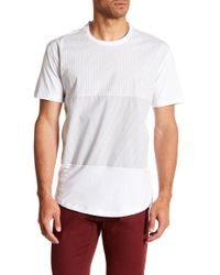 Kenneth Cole - Woven Blocked Stripe Tee-shirt - Lyst