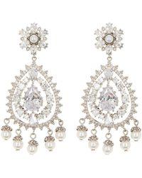Marchesa - Simulated Pearl & Cz Chandelier Drop Earrings - Lyst