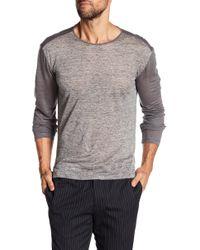John Varvatos - Crew Neck Long Sleeve Knit Pullover - Lyst