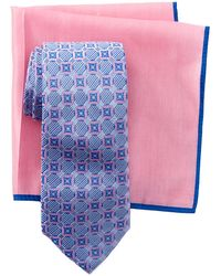 Ted Baker - Layered Circles Silk Tie & Pocket Square Set - Lyst