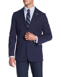 Ben Sherman - Navy Polka Dot Two Button Notch Lapel Jacket - Lyst