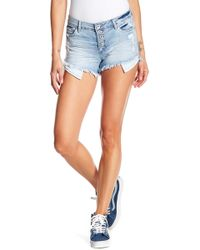 Tractr - High Waist Hi-lo Shorts - Lyst