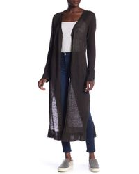 INHABIT - Gilet Long Linen Sweater - Lyst