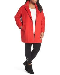 Halogen - Wool Blend Coat (plus Size) - Lyst