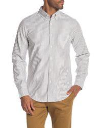 J.Crew - University Stripe Print Oxford Shirt - Lyst