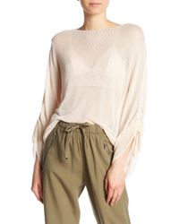 Dex - Scoop Neck Shirred Sleeve Sweater - Lyst